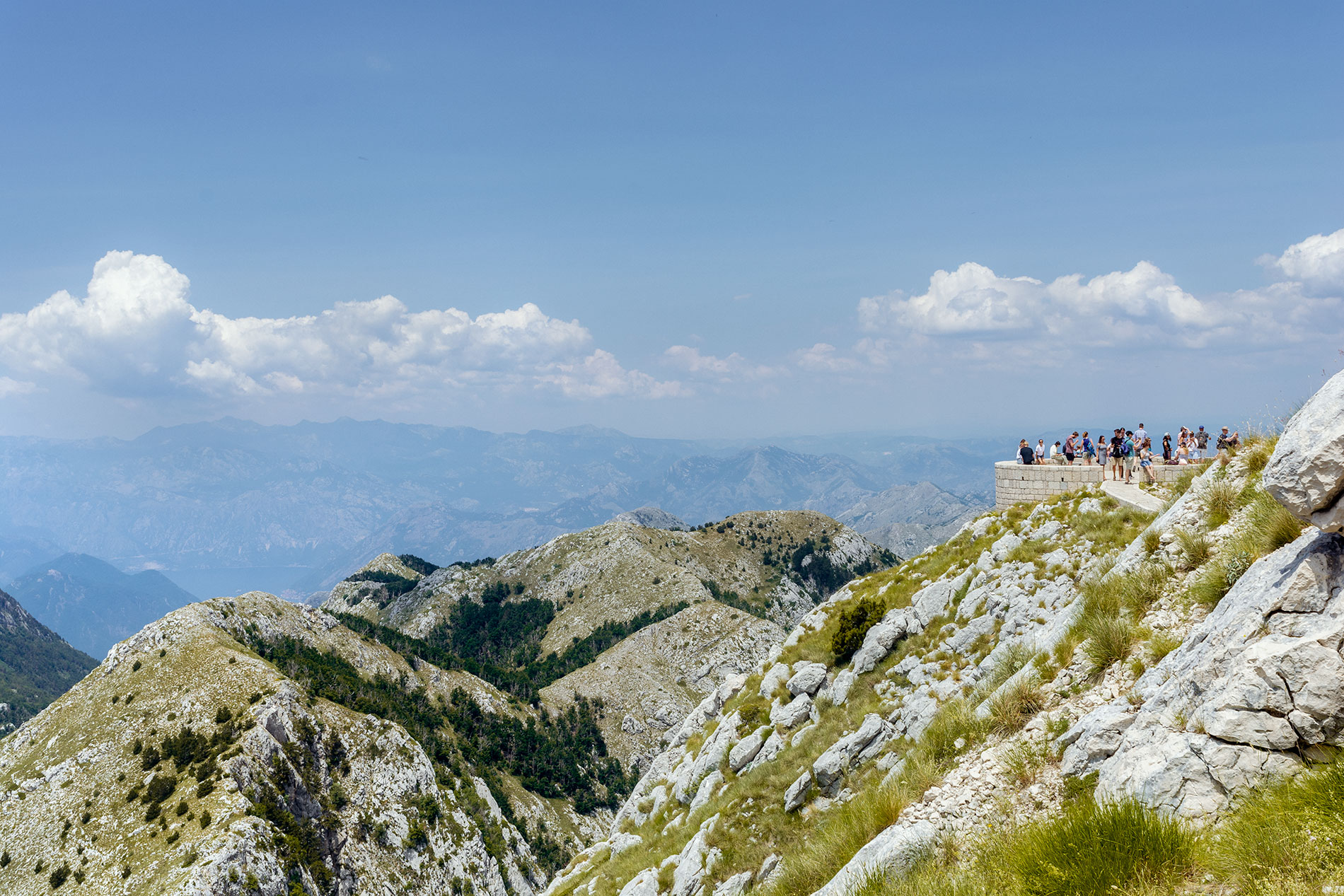 The Njegos Mausoleum is located in the Lovcen National Park and is considered a holy altar by Montenegrins