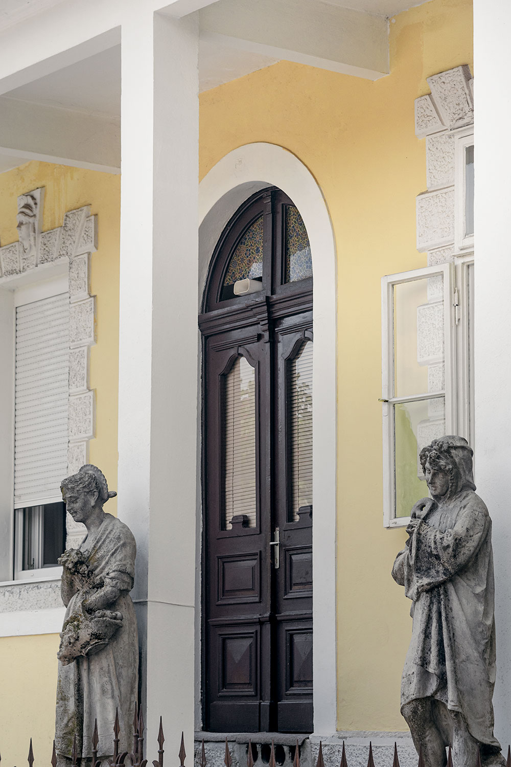 Statues in Cetinje the Old Royal Capital of Montenegro
