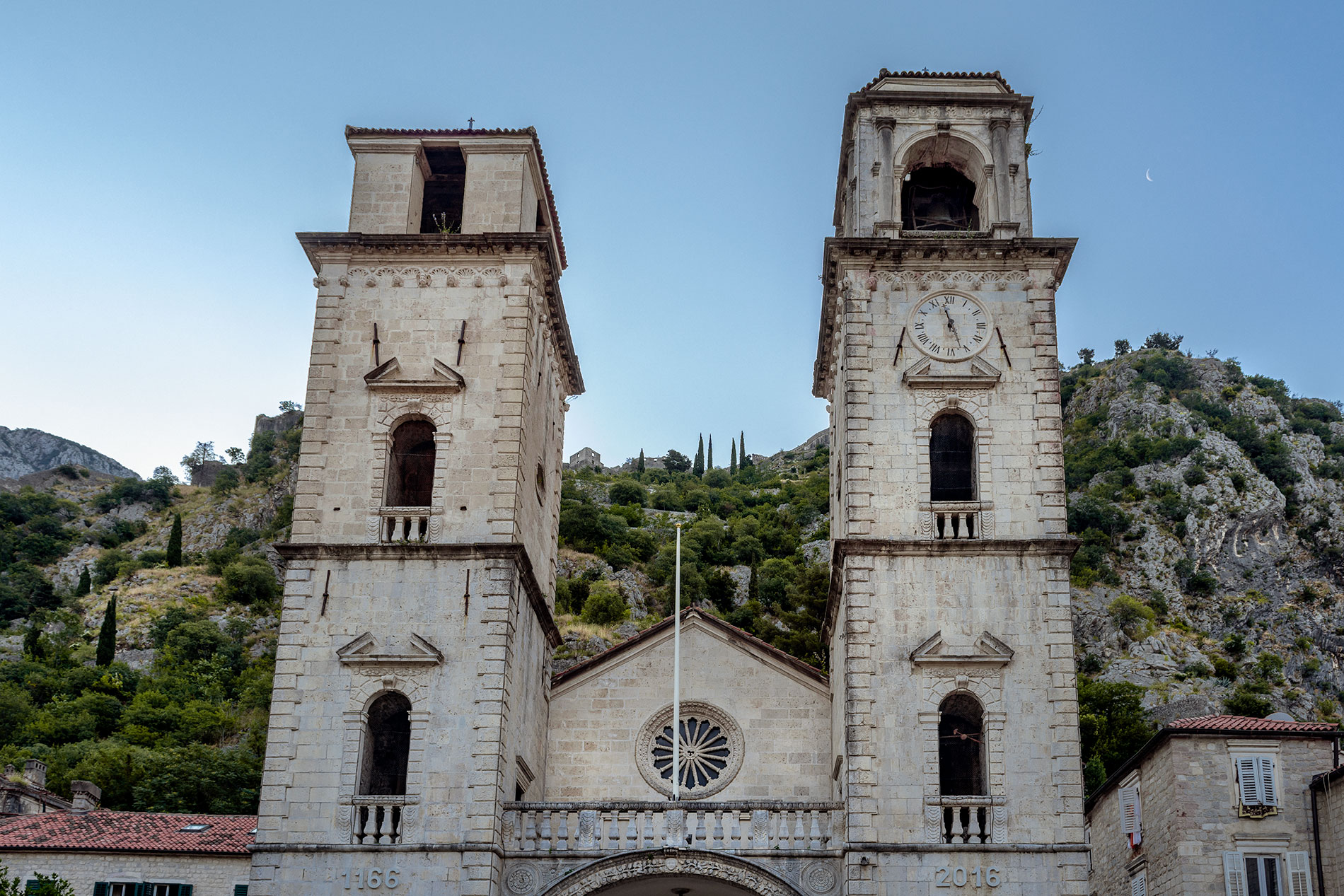The St Tryphon Cathedral, located in the center of Kotor's Old Town