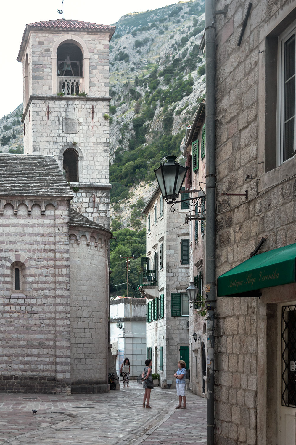 The streets of Kotor Old Town are very well preserved