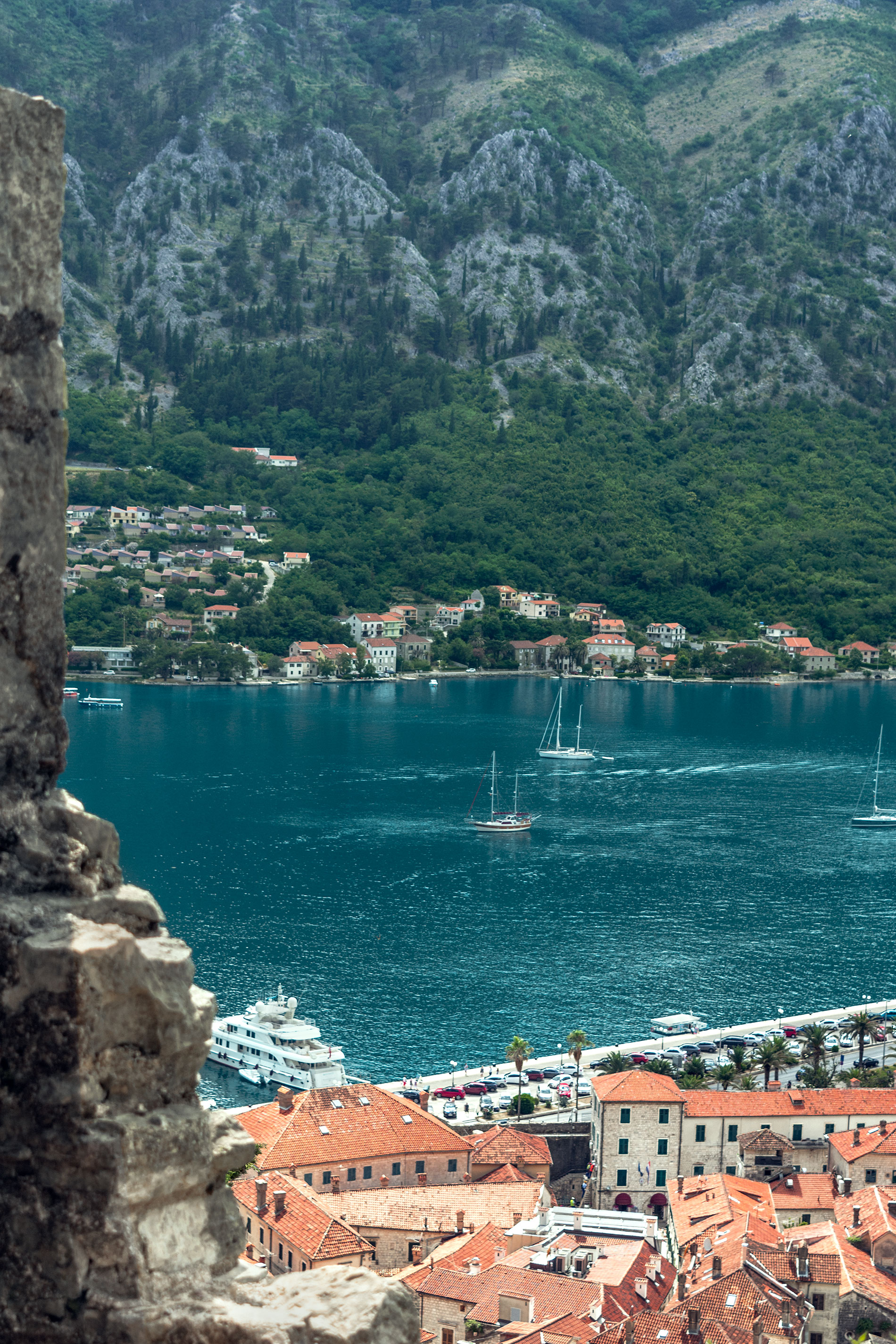 View to the Adriatic Sea from the Walls of Kotor