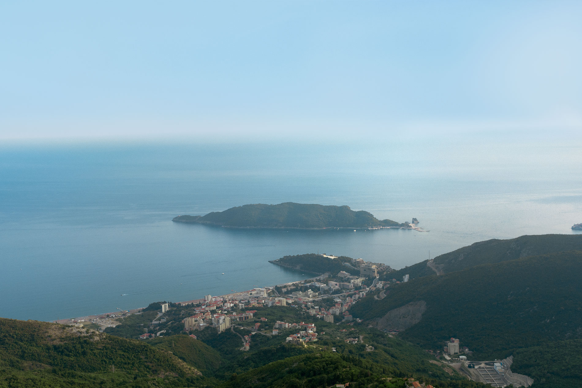 View to Budva from the road