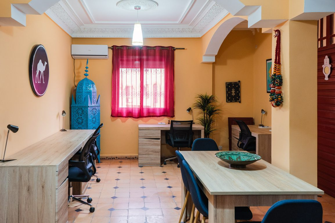 Space for meals and coworking at Dar Digital Nomad