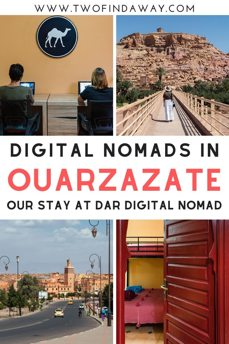 Morocco is a great destination for digital nomads. Learn all about our experience in Morocco and our stay at the Dar Digital Nomad coworking and coliving apartment in Ouarzazate. #ouarzazate #morocco #digitalnomads