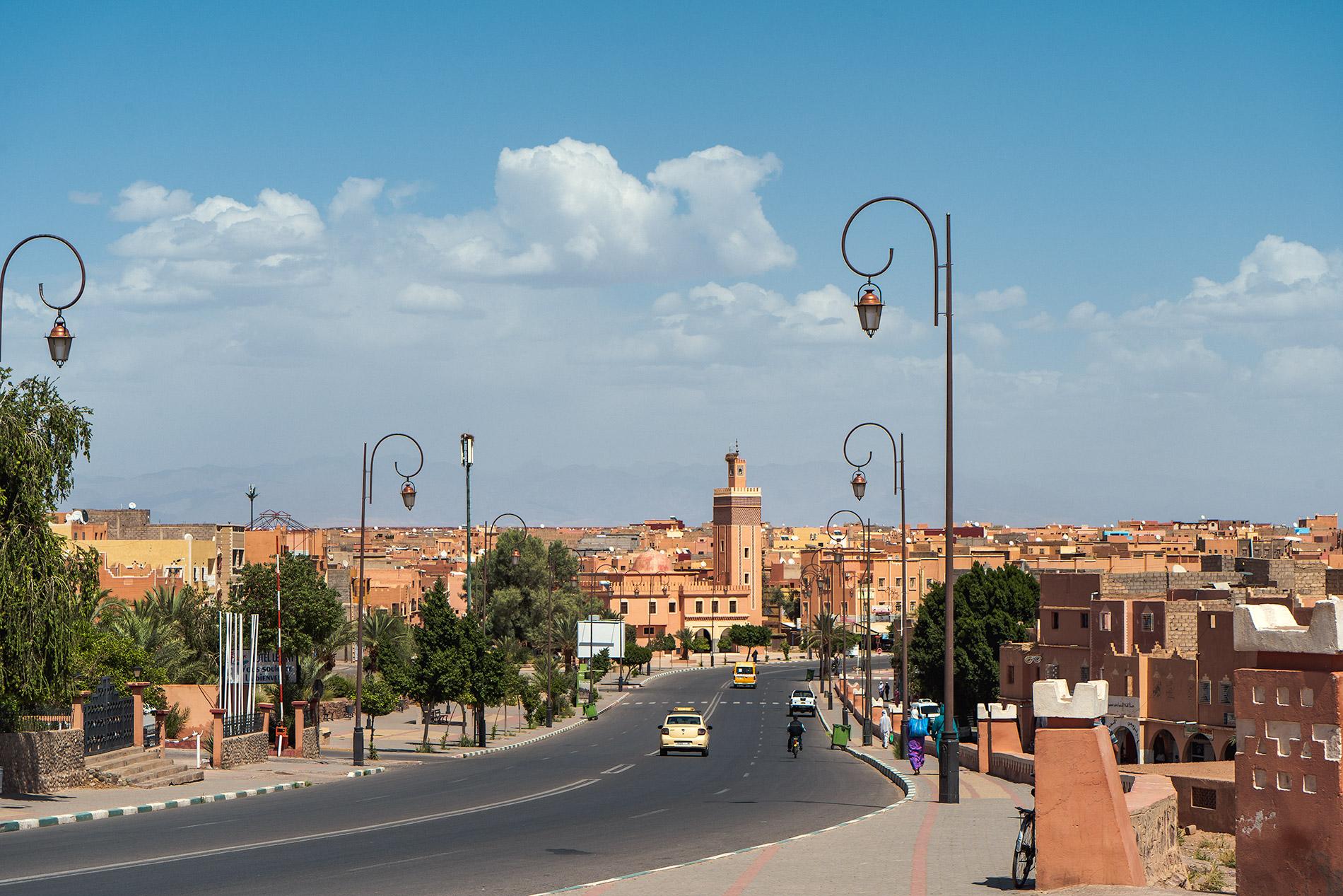 An avenue in Ouarzazate, Morocco