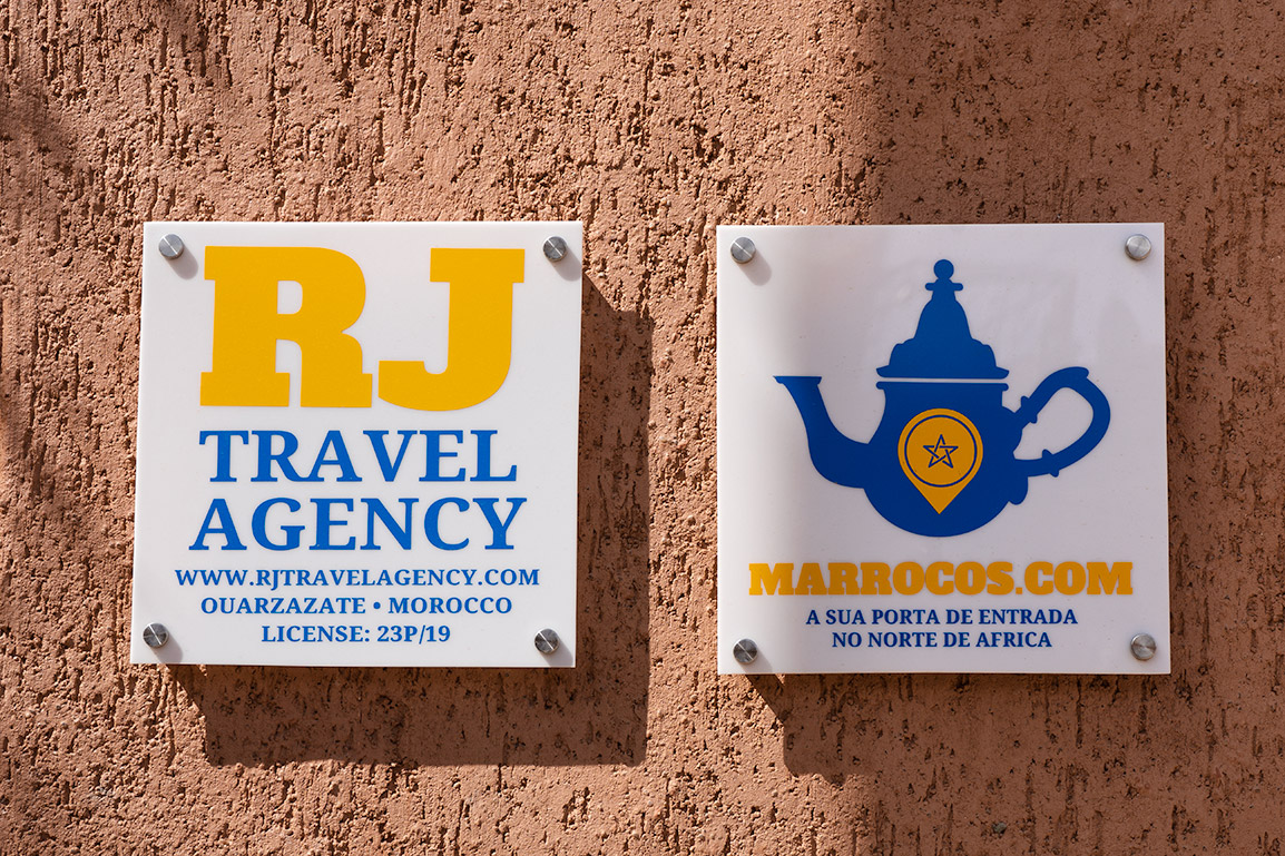 Signs for the Travel Agencies