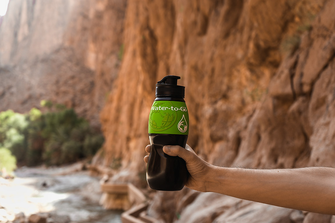 Green Water-to-Go bottle