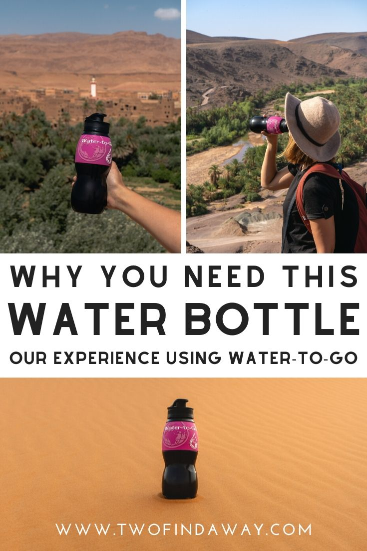 If you are going to visit Morocco, one of the best travel tips we can give you is to use a filtered water bottle to make sure that you only drink safe water in Morocco. Read about our experience using Water-to-Go.