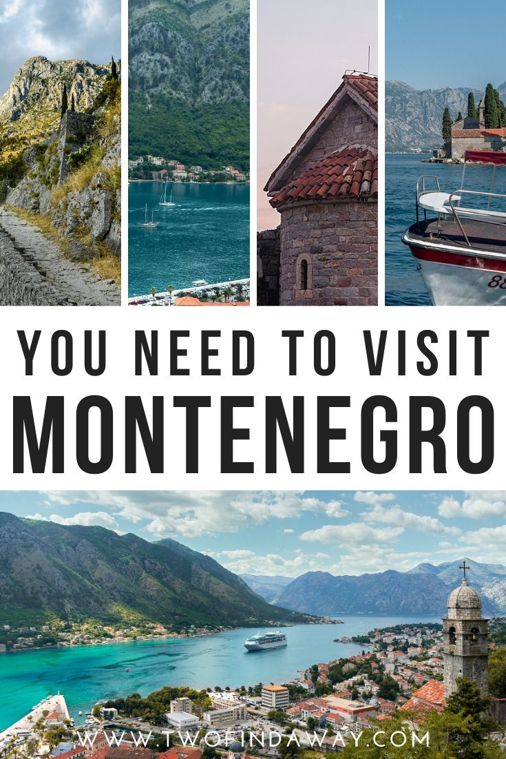 Montenegro is one of the most beautiful destinations in Europe. In this post, we share 33 photos of Montenegro that will make you want to book a trip to this stunning Balkan country! We tell you why you need to go and the best places to visit in Montenegro, according to our own Montenegro itinerary. I Visit Montenegro I Travel Montenegro I See Kotor I Europe Best Destinations I Hidden Gems Europe #montenegro #kotor #travel #visitmontenegro #traveltips #balkans #twofindaway