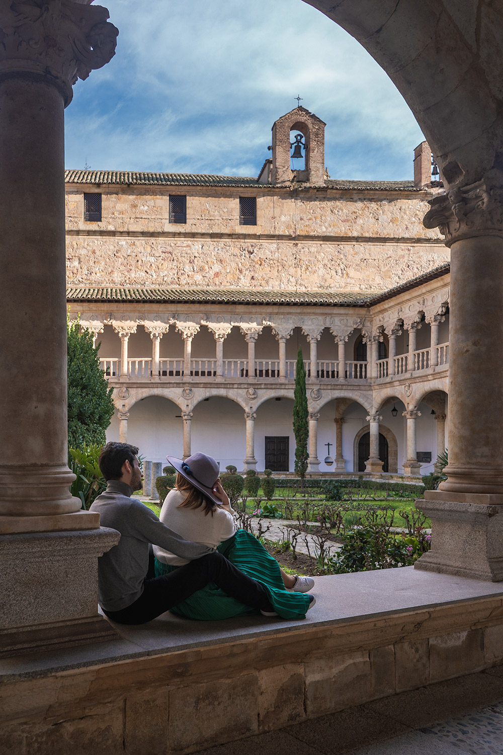Rui and Maria at Convento de Las Duenas in Salamanca Spain