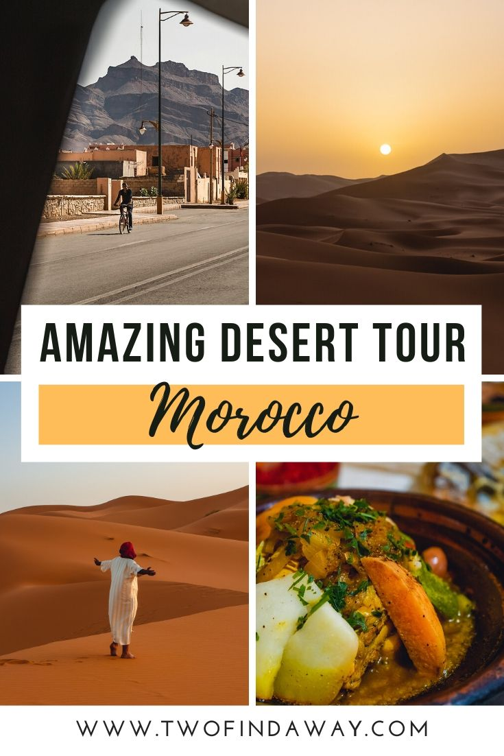 A complete travel guide to plan your visit to the desert in Morocco. Includes all the details of our trip to help you plan your own, including departure from Marrakech or Ouarzazate, visiting Zagora vs. Merzouga in Marocco, and our Southern Morocco itinerary. We also share what to take to the desert and what to wear in the desert. Desert in Morocco I Luxury Camping in Morocco I Morocco Travel I Desert Travel I Sahara Desert Trip I Morocco Travel Tips I Desert Tour Morocco #morocco #desert