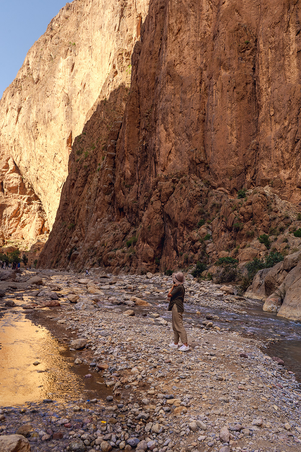 Maria at the magnificent Todgha Gorge in Morocco