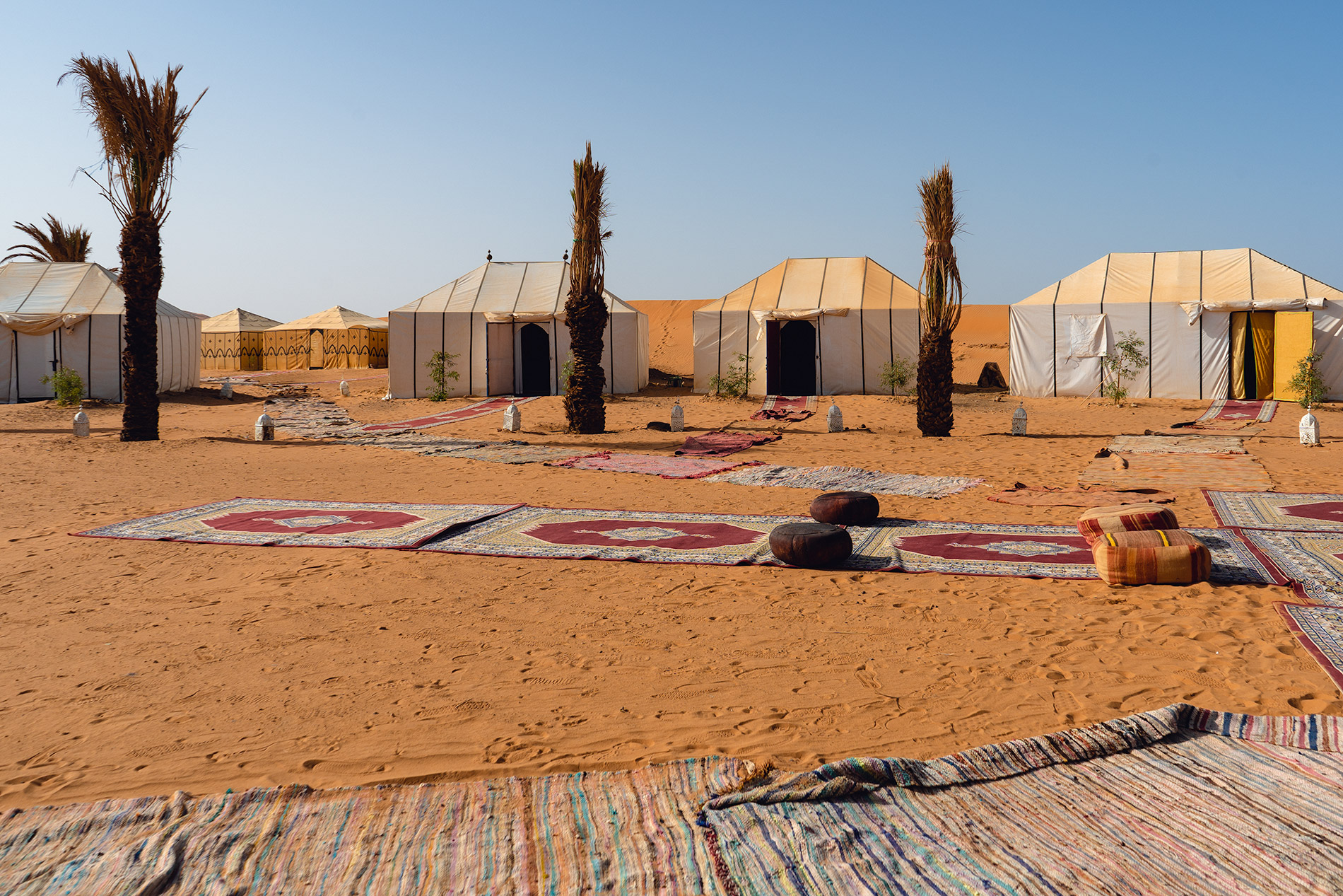 Our luxury desert camp in Morocco
