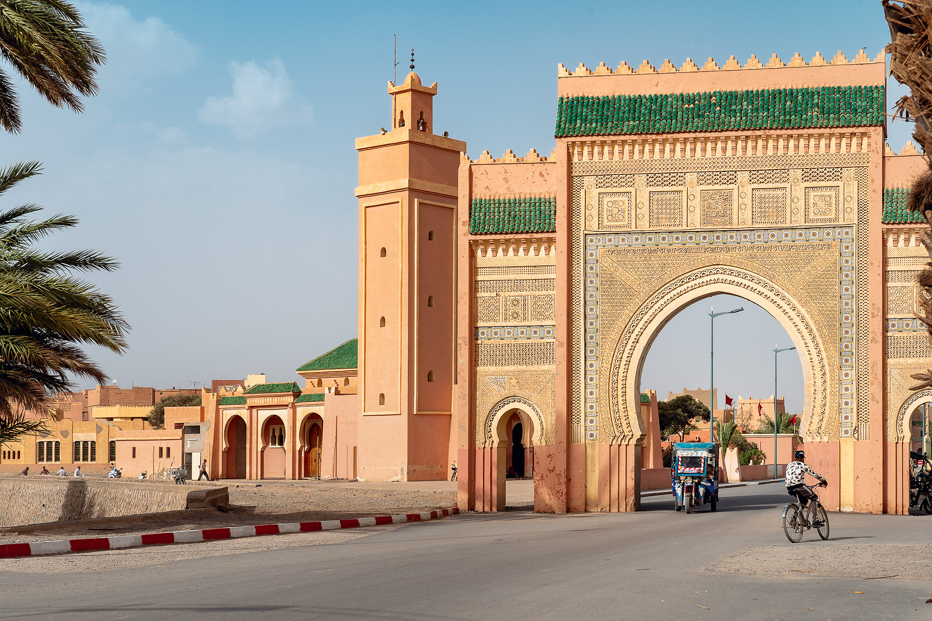 The western gate of Rissani, known by many as the door to the Sahara desert