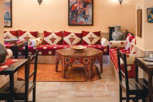 A beautifully decorated room in Dar Rita Ouarzazate