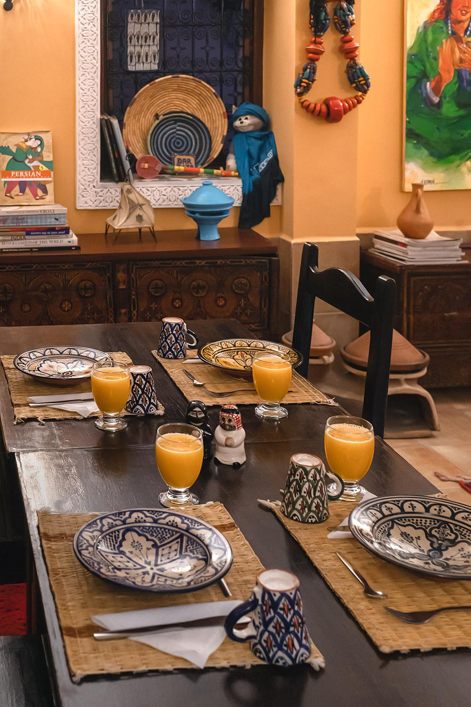 Breakfast at Dar Rita in Ouarzazate