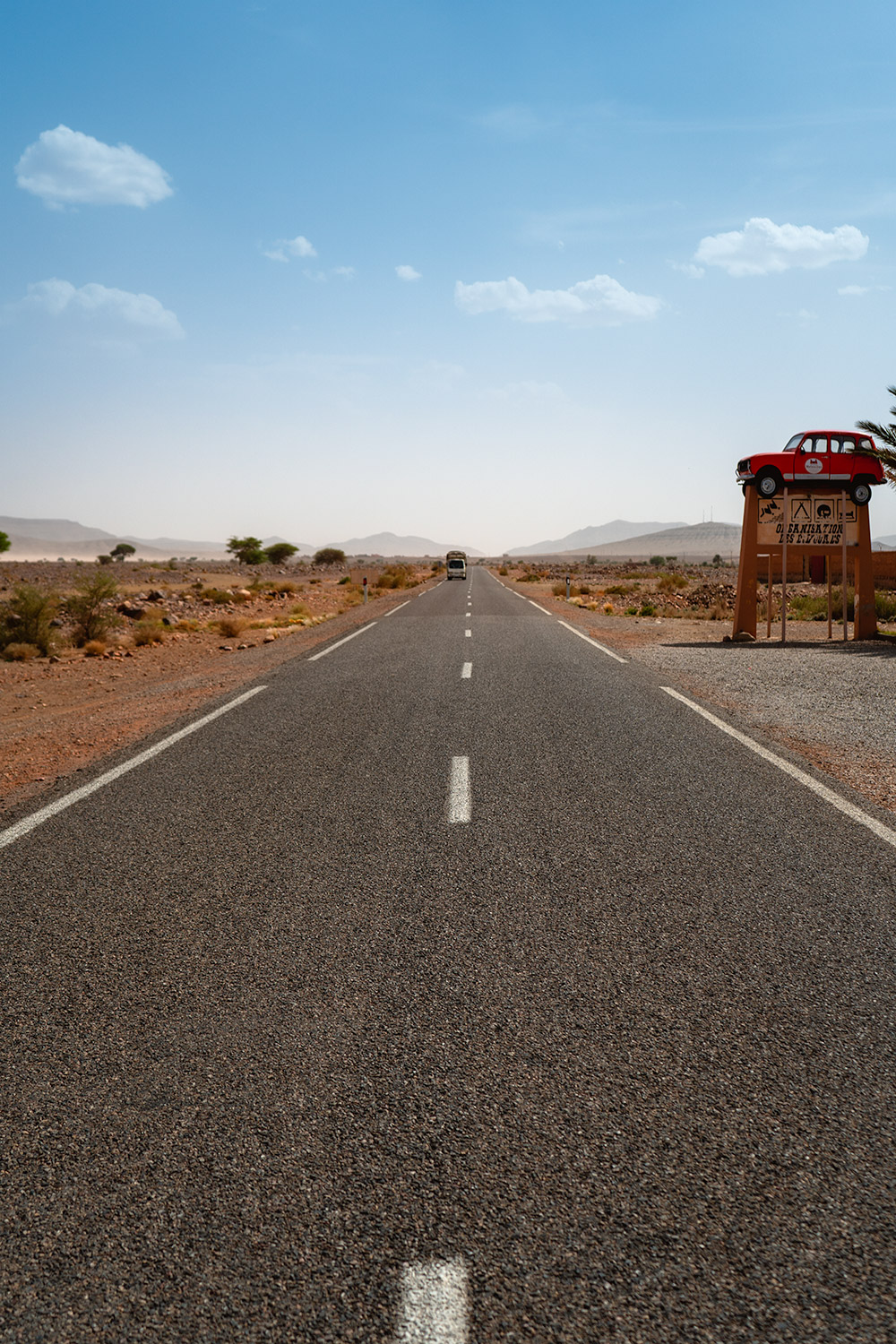 The road to the desert in Morocco