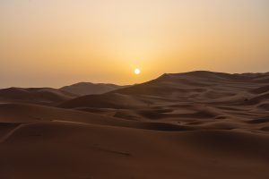 An unforgettable sunrise in our desert trip in Morocco