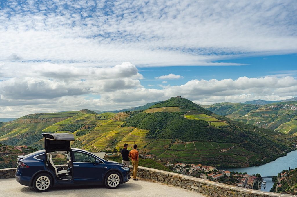 Touring the Douro Valley in a Tesla