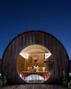 One of the most unique experiences in the Douro Valley: staying at a giant wine barrel at Quinta da Pacheca