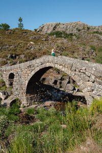 Roman Bridge Ponte da Cava Velha in Castro Laboreiro
