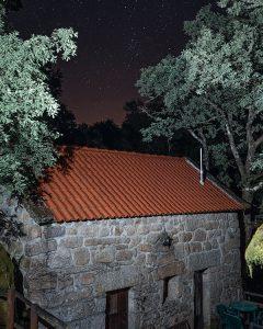 Night sky over Moinhos do Poço Verde in Castro do Laboreiro